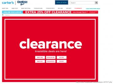 Carter's extra 25% off clearance, end March 1
